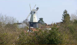 windmill at Cranbrook in Kent a short distance from Bedgebury camping