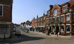 high street of Cranbrook in Kent a short distance from Bedgebury Camping