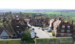 view of Goudhurst from the church