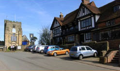 Star & Eagle Pub in Goudhurst in the Weald of Kent