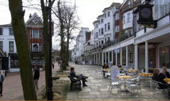 Tunbridge Wells Pantiles a short distance from Bedgebury campsite