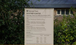 Scotney Castle sign near Bedgebury Camping