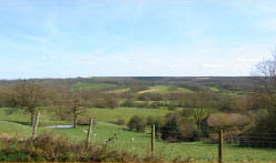 the view from Goudhurst of the weald of kent